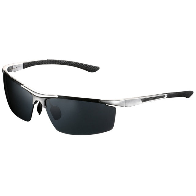 Men|^| Polarized Sunglasses-frame silver