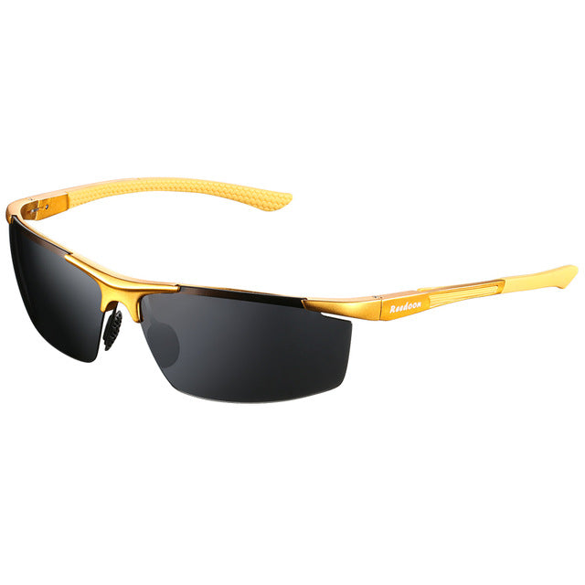 Men|^| Polarized Sunglasses-gold frame