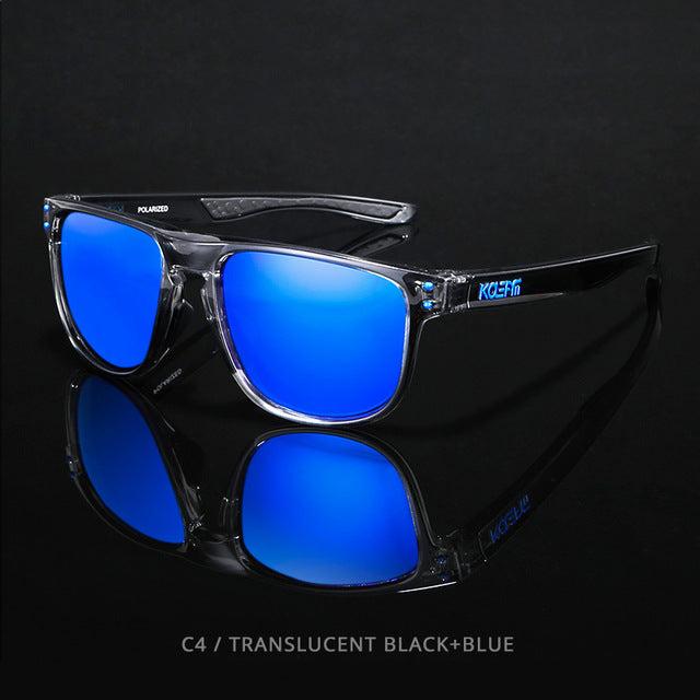 KDEAM HD TR90  Polarized Sunglasses-sky blue