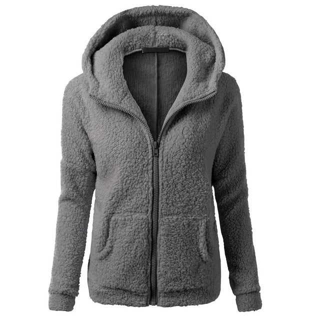 Women Fleece Jacket Streetwear product-image-949147538.jpg