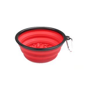 Pet Slow Feeder Bowl 2in1 Water Food-Red