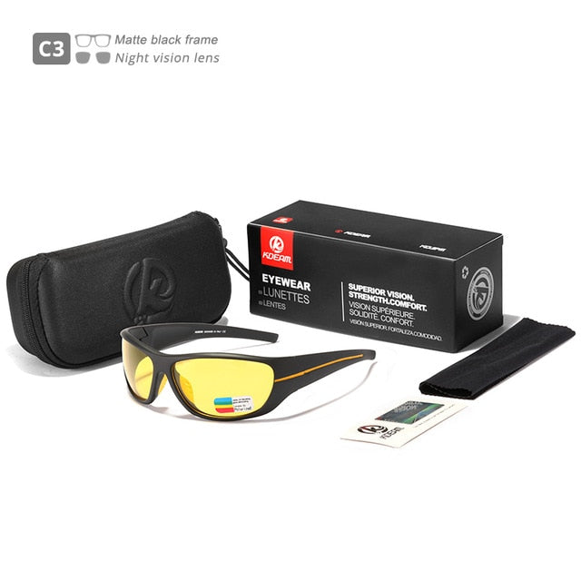 KDEAM Ultra-high Anti-scatch-sunglasses-yellow
