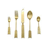 Brass cutlery arrow gold