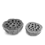Lotus seeds aluminium ashtray silver set