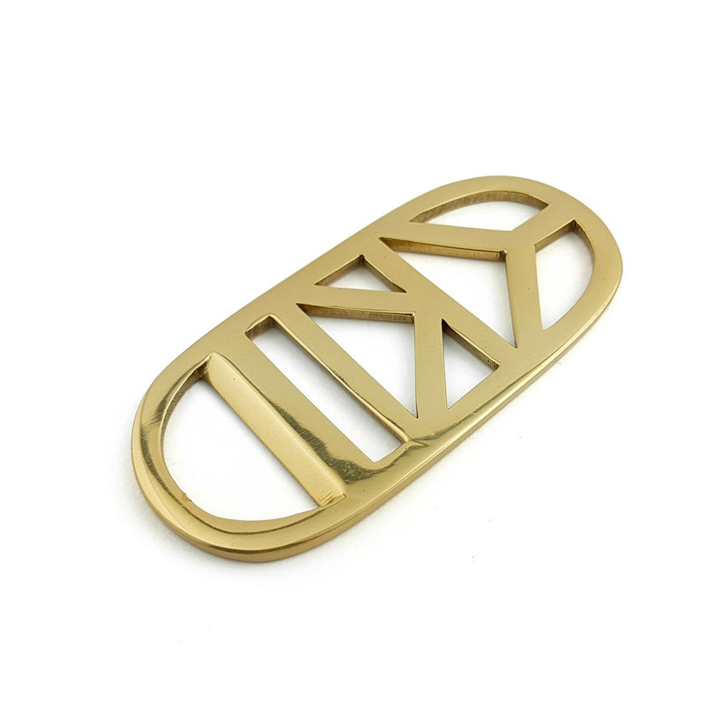 Bottle Opener Brass Gold Double Triangle