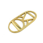 Bottle Opener Brass Gold Triangle Circle