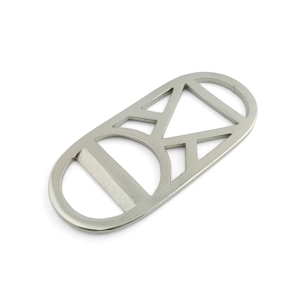 Bottle Opener Brass Silver Triangle circle
