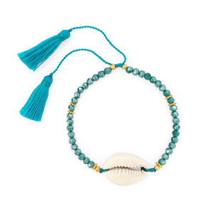 Load image into Gallery viewer, Bracelet Boho Crystal Shell turquoise