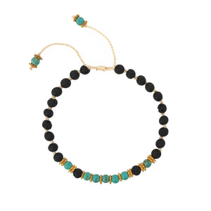 Load image into Gallery viewer, Bracelet lava stone with turquoise beads