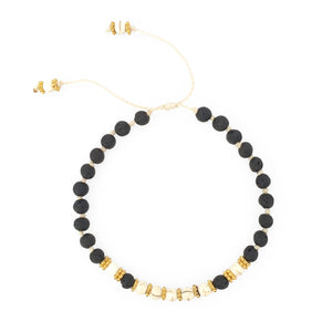 Load image into Gallery viewer, Bracelet lava stone with white beads