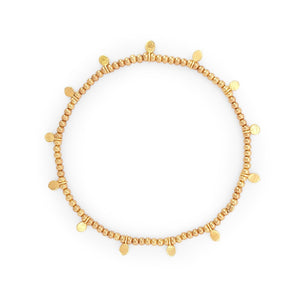 Load image into Gallery viewer, Minimalist silver 925 dot bracelet gold plated