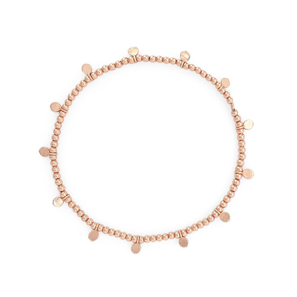 Load image into Gallery viewer, Minimalist silver 925 dot bracelet rose gold plated