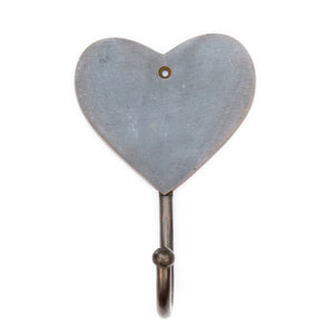 Load image into Gallery viewer, brass hook heart antique