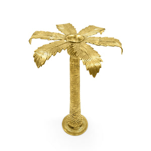 Load image into Gallery viewer, Handmade Brass palm tree candle holder L