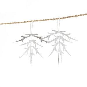 Load image into Gallery viewer, Earring Bamboo Leaf silver plated