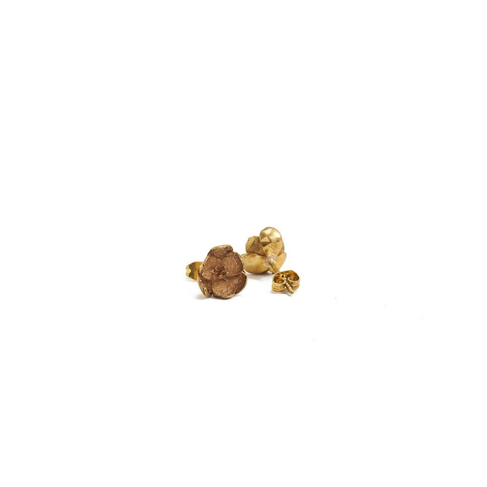 Load image into Gallery viewer, Earring Cherry Blossom Stud Gold Back