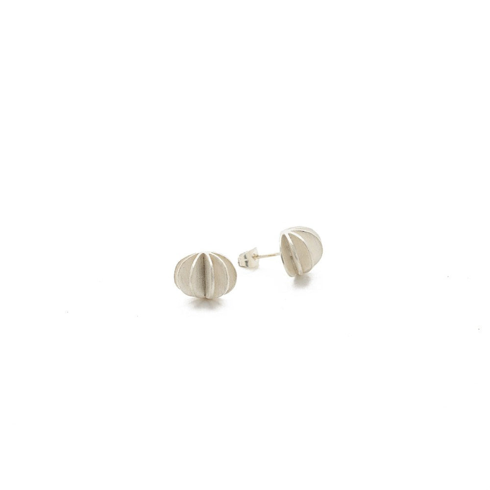 Load image into Gallery viewer, Earring Kipas Flower Stud Silver Plated