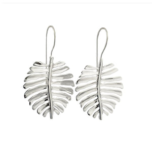 Load image into Gallery viewer, Earring Monstera Silver Plated