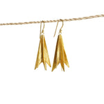 Earring Rocket Brass Gold