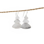 Earring Triple Triangle hook silver plated