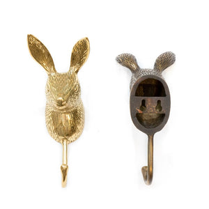 Load image into Gallery viewer, Hook Brass Rabbit Back