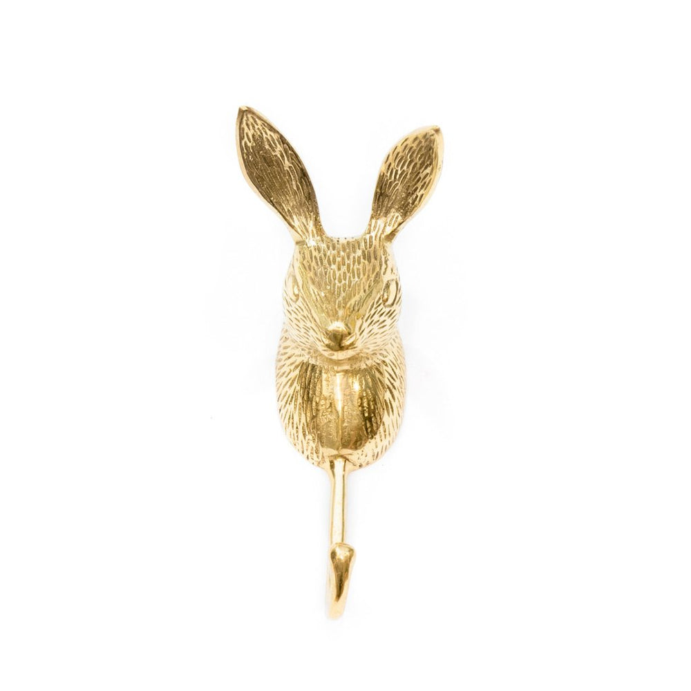 Load image into Gallery viewer, Hook Brass Rabbit Gold