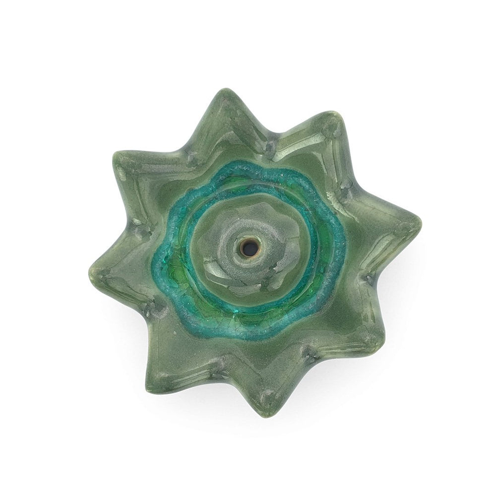 Load image into Gallery viewer, Incense Holder Ceramic Lotus