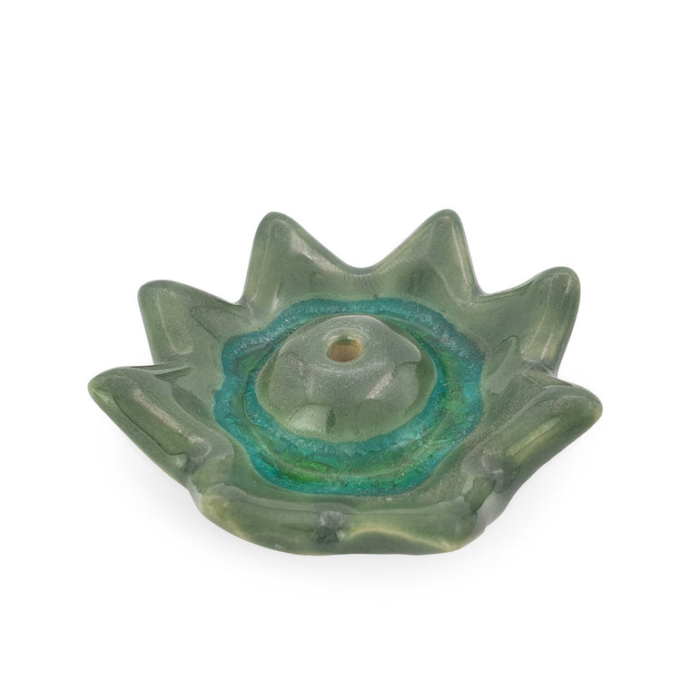 Incense Holder Ceramic Lotus