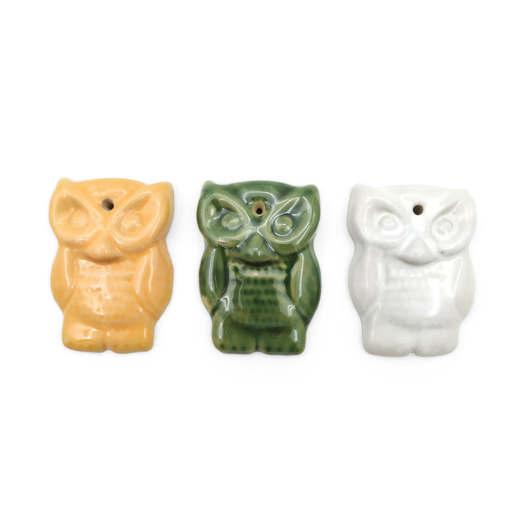 Incense holder ceramic owl