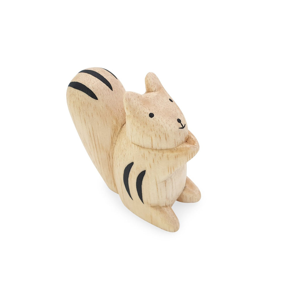 Mini handmade wooden toy animal squirrel