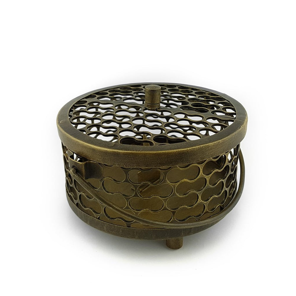 Load image into Gallery viewer, Mosquito Coil Pot Brass Antique Gold