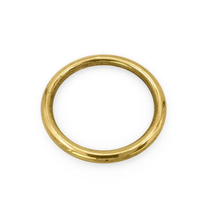 Load image into Gallery viewer, Handmade brass napkin ring circle side view