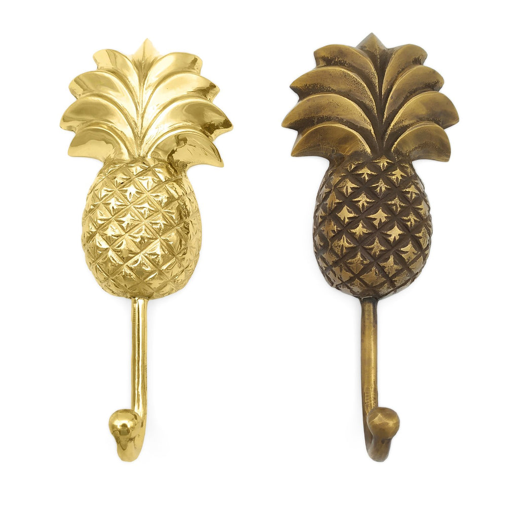 Handmade solid brass pineapple wall hook
