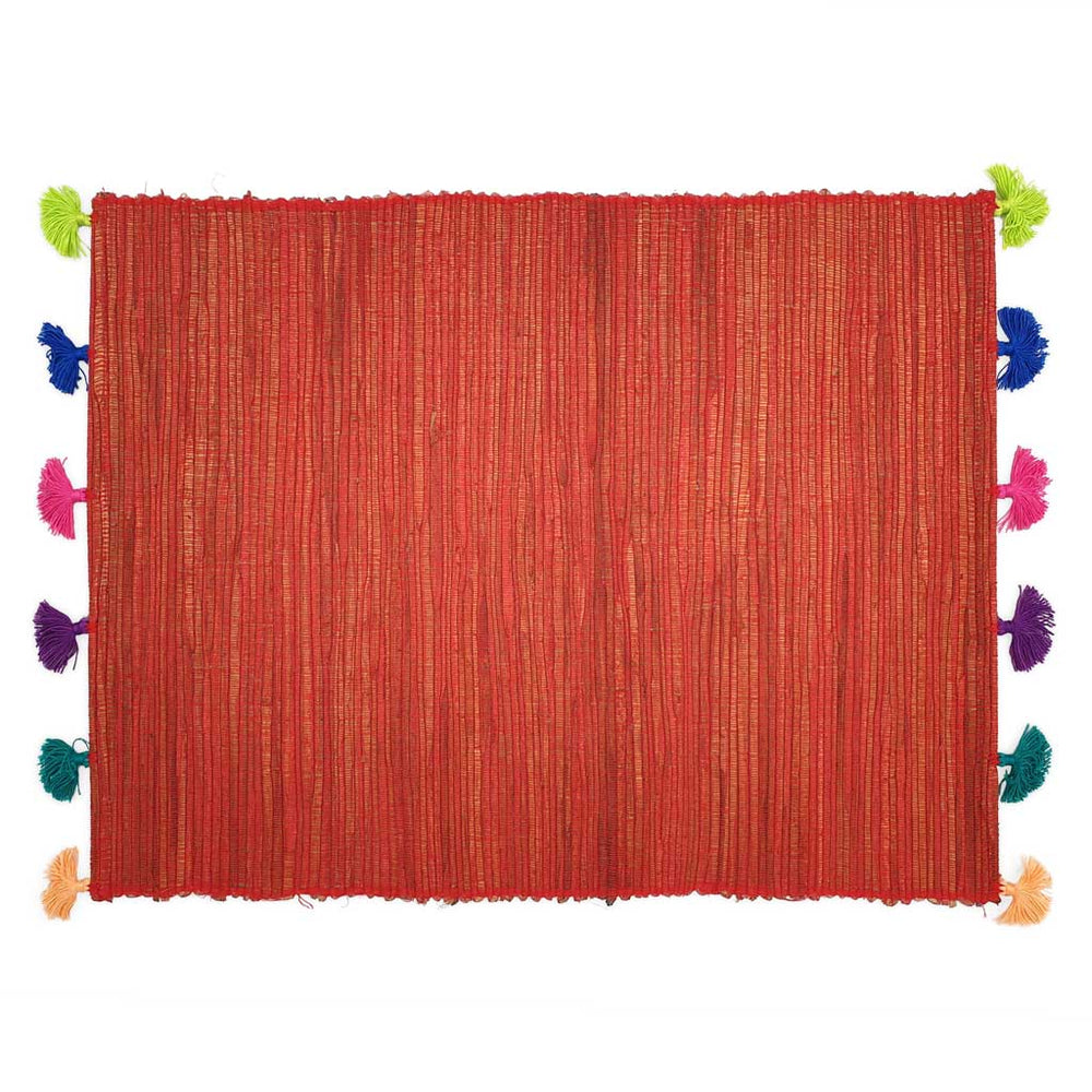 Placemat Tassel Red