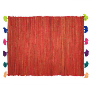 Load image into Gallery viewer, Placemat Tassel Red