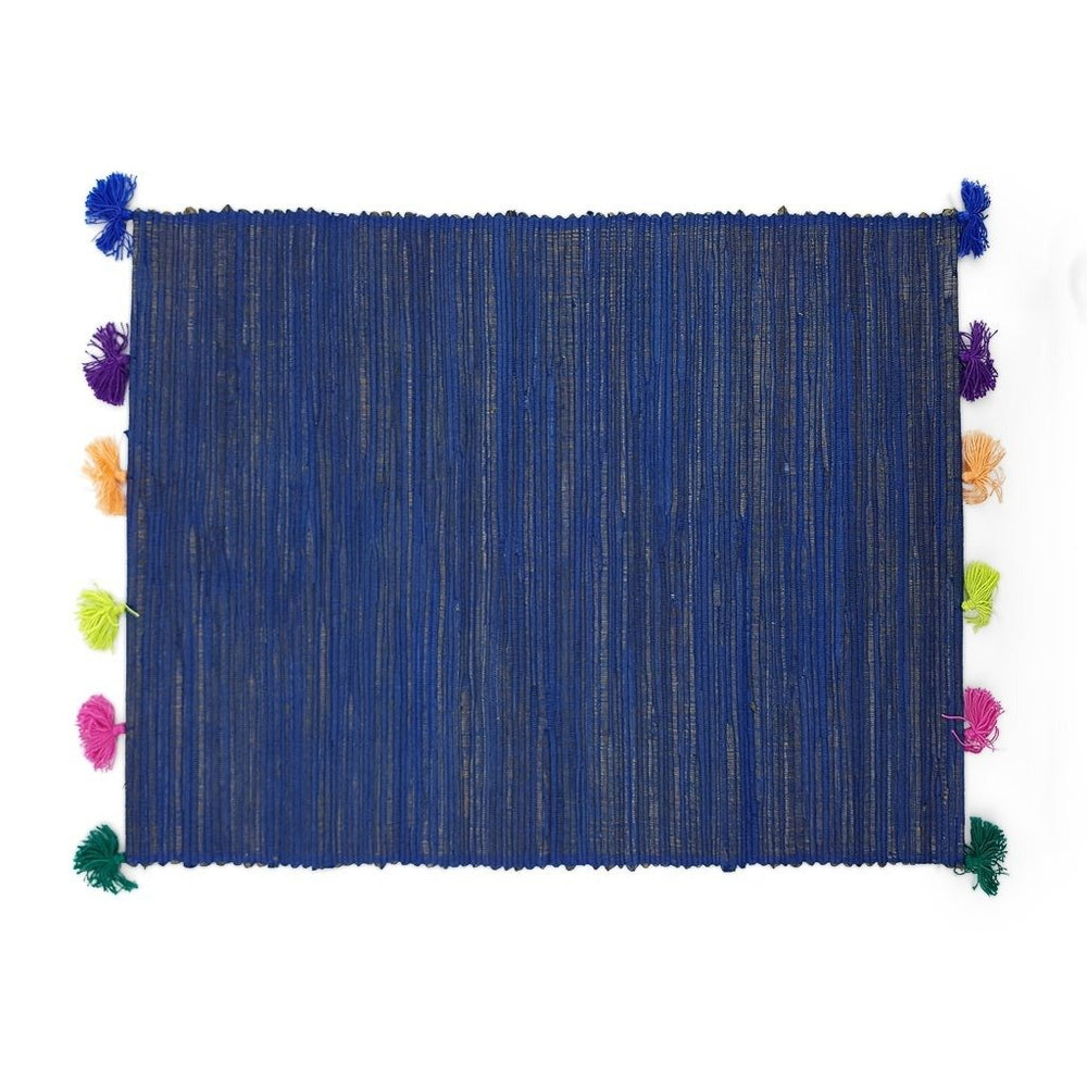 Load image into Gallery viewer, Placemat Tassel Blue
