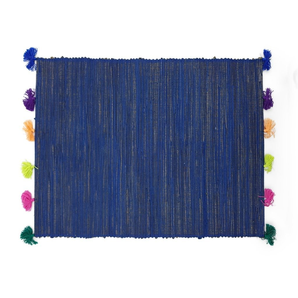 Placemat Tassel Blue