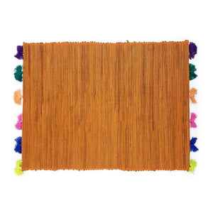 Load image into Gallery viewer, Placemat Tassel Orange