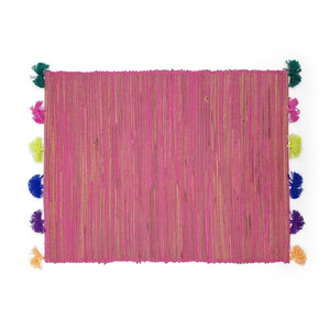 Load image into Gallery viewer, Placemat Tassel Pink