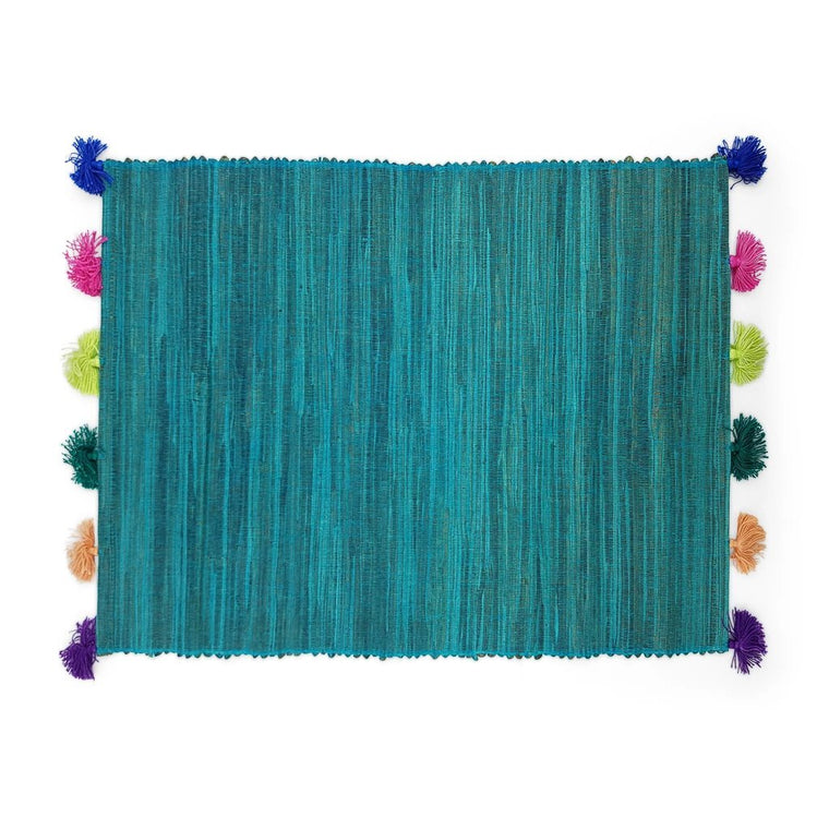 Placemat Tassel Turquoise