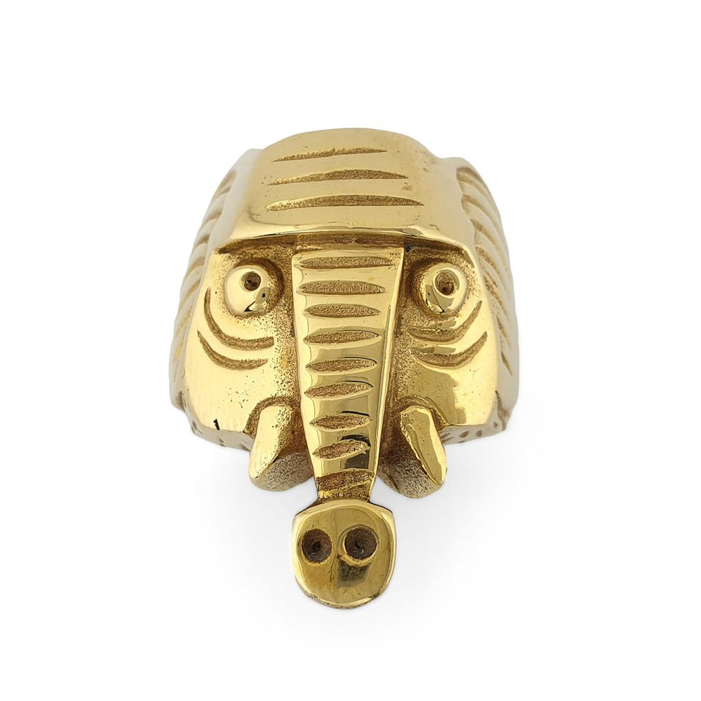 Ring Animal Elephant gold front