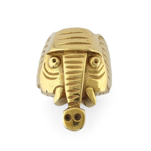 Load image into Gallery viewer, Ring Animal Elephant gold front