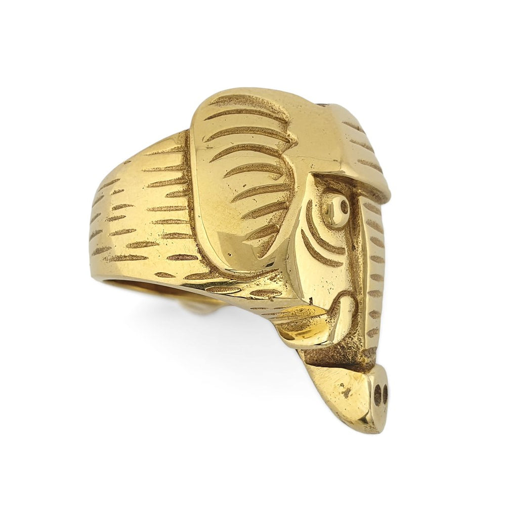 Ring Animal Elephant gold side