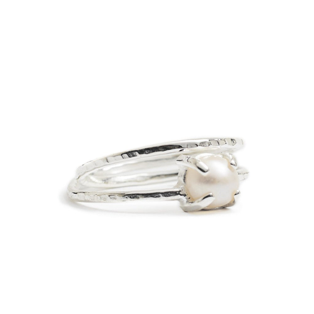 Load image into Gallery viewer, Ring Boho Pearl silver