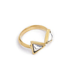 Ring Boho Triangle Mix Silver