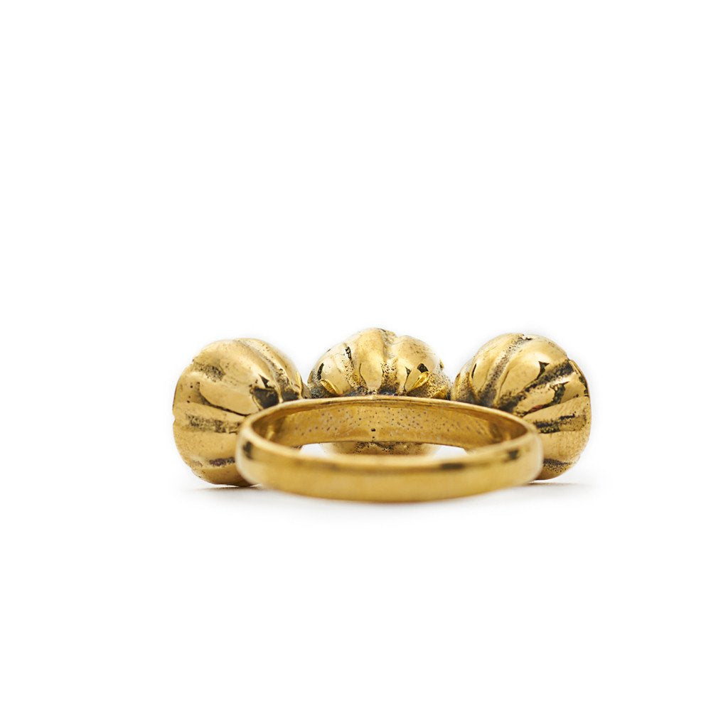 Ring Bunga Flower Gold Back