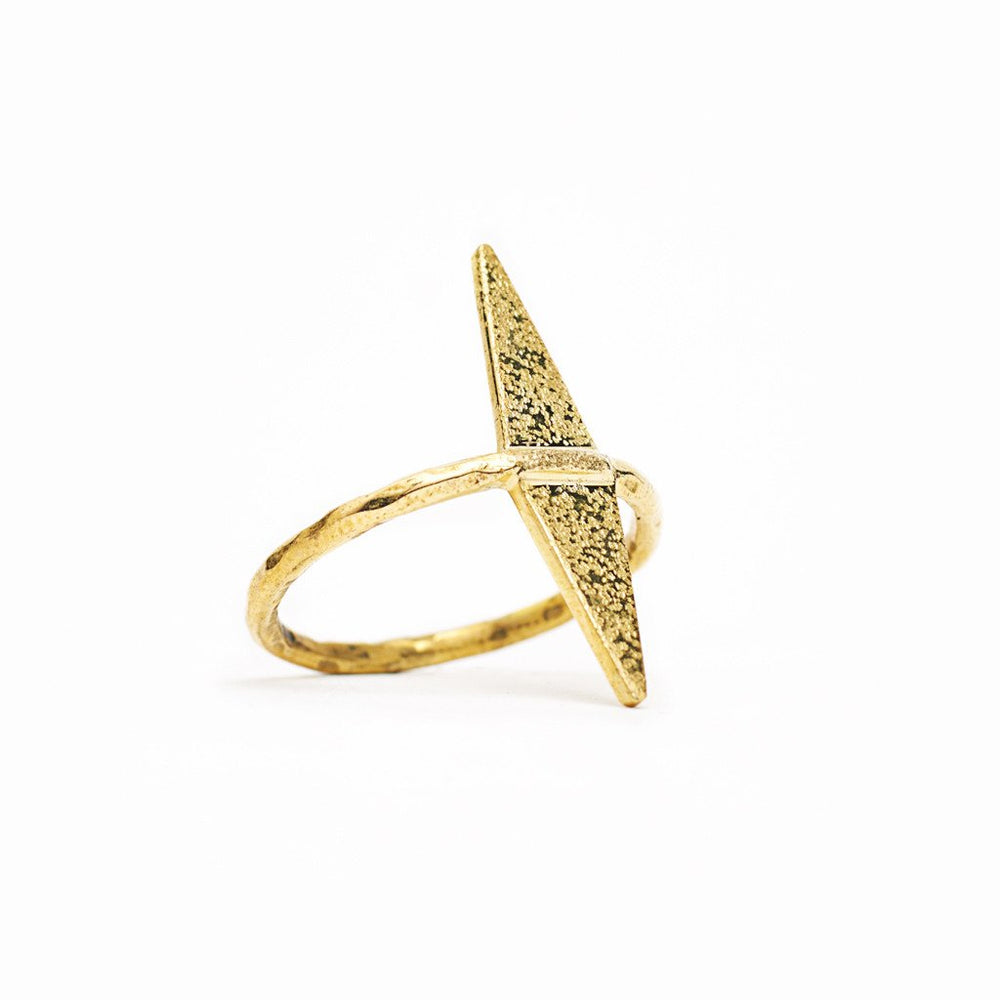 Ring Geometric Ace of Diamonds Gold