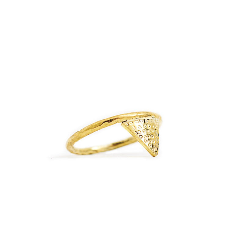 Ring Geometric Triangle Gold