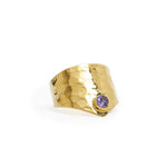 Ring Kenza Dot Gold Zircon