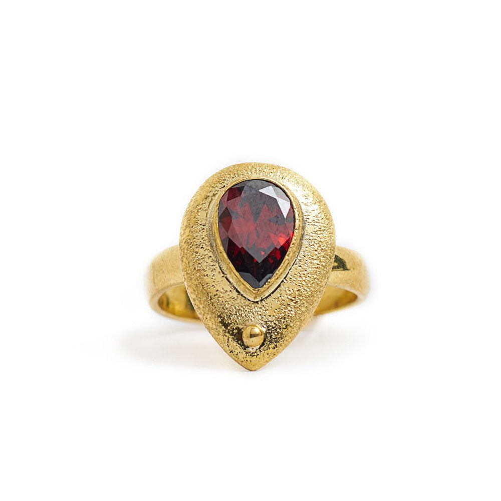 Load image into Gallery viewer, Ring Kenza Drop Gold Front